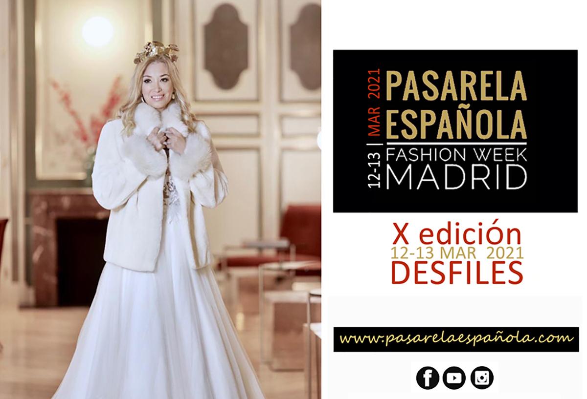 Cartel marzo 2021 de Pasarela Española Fashion Week Madrid